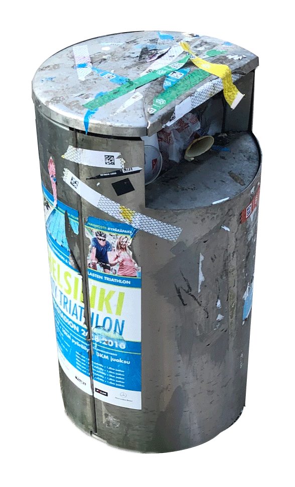 Resonoi Outdoor Feedback prevents overflowing public trash bins