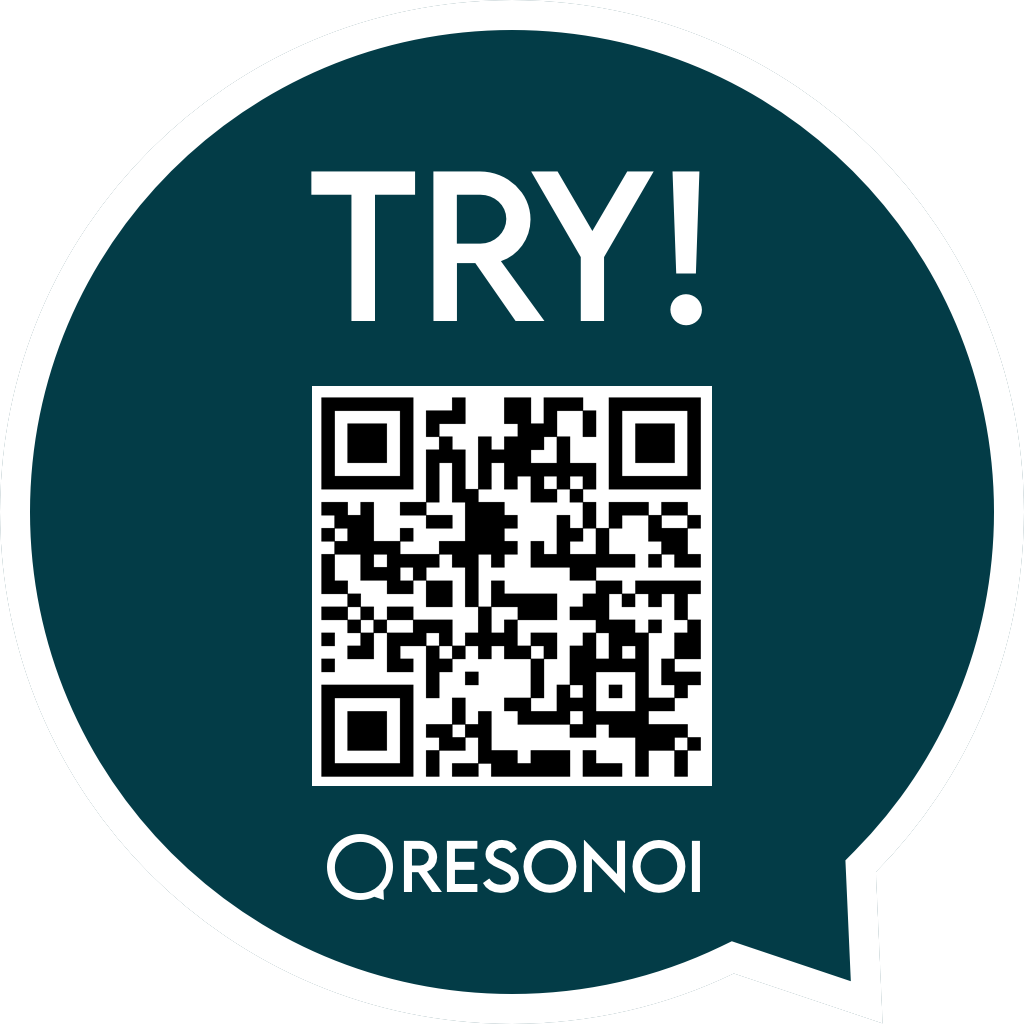 Read QR to Try Resonoi